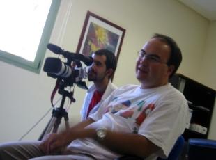 César y Juanma con Monterrubio